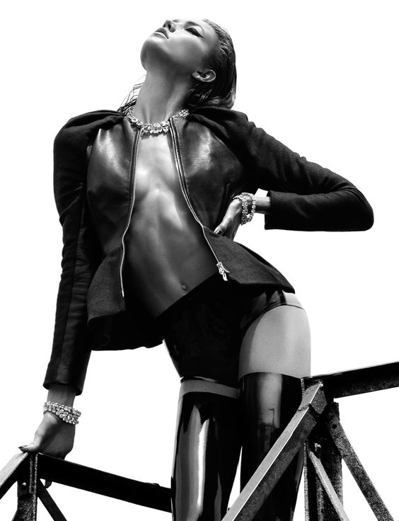 Model Karlie Kloss, photographer Greg Kadel for Numero #137, October 2012
