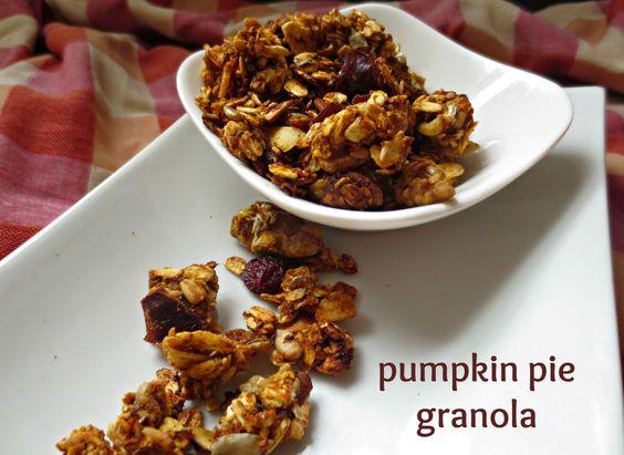 Pumpkin Pie Granola | Granola, Pumpkin Pies and Pies