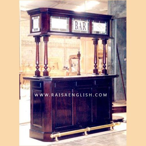 Straight Bar Cabinet Wooden By Raisa English Antique American Furniture