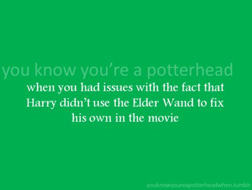 people who haven't read the books wouldn't have missed it, therefore they aren't potterheads.