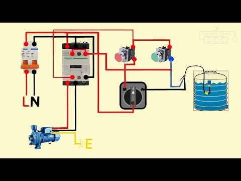 Float Switch Connection Auto Manual Single Phase Water Pump Youtube Electrical Circuit Diagram Electrical Projects Water Pumps