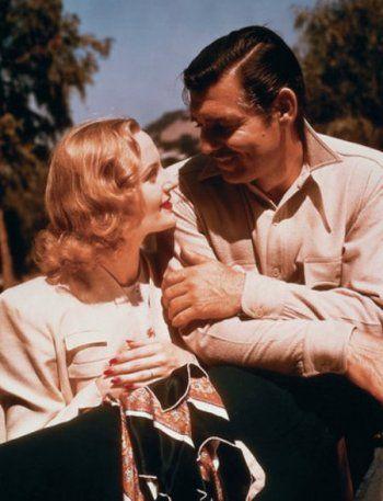 Clark Gable (1901-1960) mit seiner großen Liebe Carole Lombard (1908-1942), die mit 33 Jahren bei einem Flugzeugabsturz tödlich verunglückte.