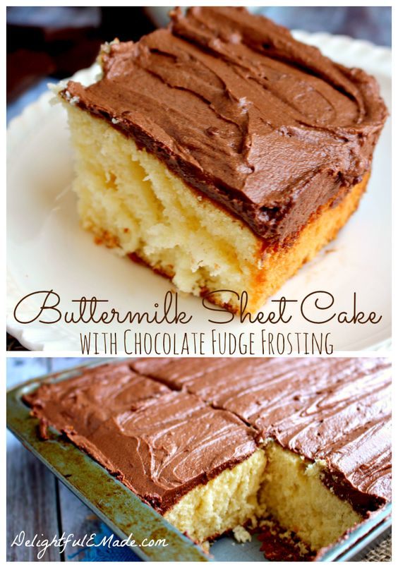 White Texas Sheet Cake Recipe Buttermilk