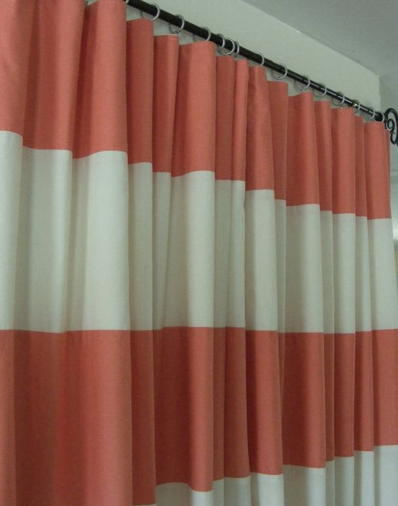Baby Bedding Drapery Nursery Curtain Panels Coral And