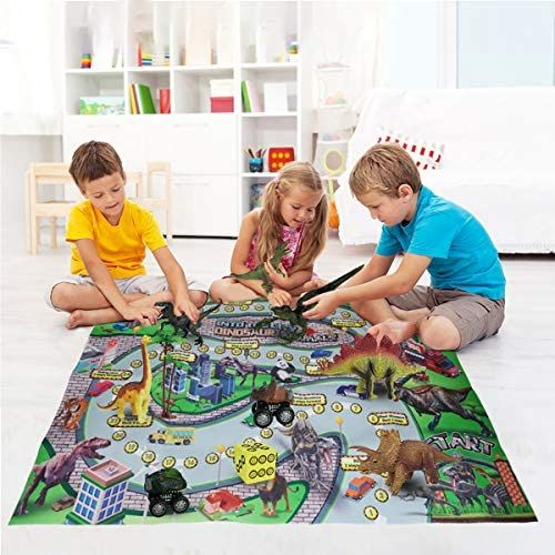 Dinosaur Play Set Dinosaur Toy Figure With Chase Game Play Mat Realistic Dinosaur Playset To Create A Dino Worl In 2020 Dinosaur Toys Dinosaur Play Dinosaur Activities