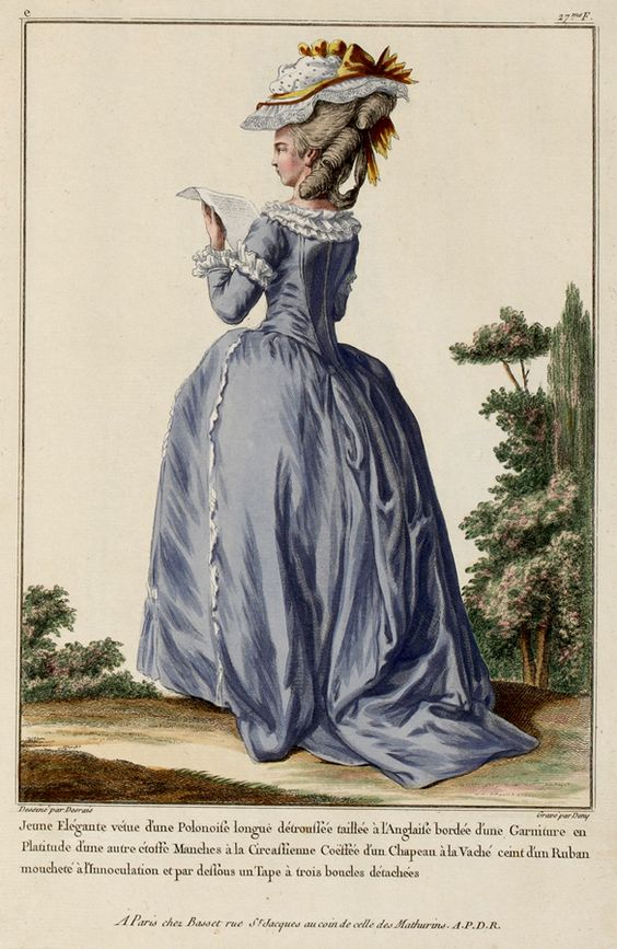 c1776 French Fashion Plate - Back View: