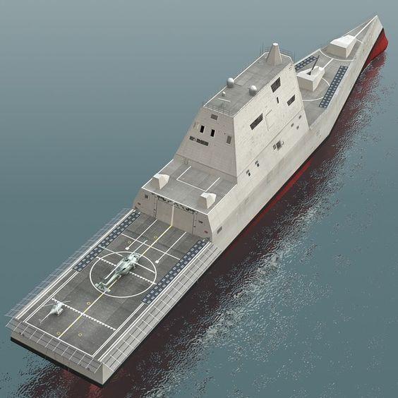 USS Zumwalt Class Destroyer | uss zumwalt ddg-1000 destroyers 3d model - USS Zumwalt DDG-1000 ...