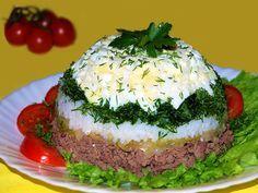 Самые вкусные рецепты: Слоеный салат печеночный