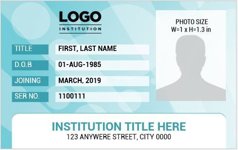 Teacher Photo Id Badge Templates For Ms Word Word Excel Throughout Teacher Id Card Template Id Card Template Badge Template Card Template