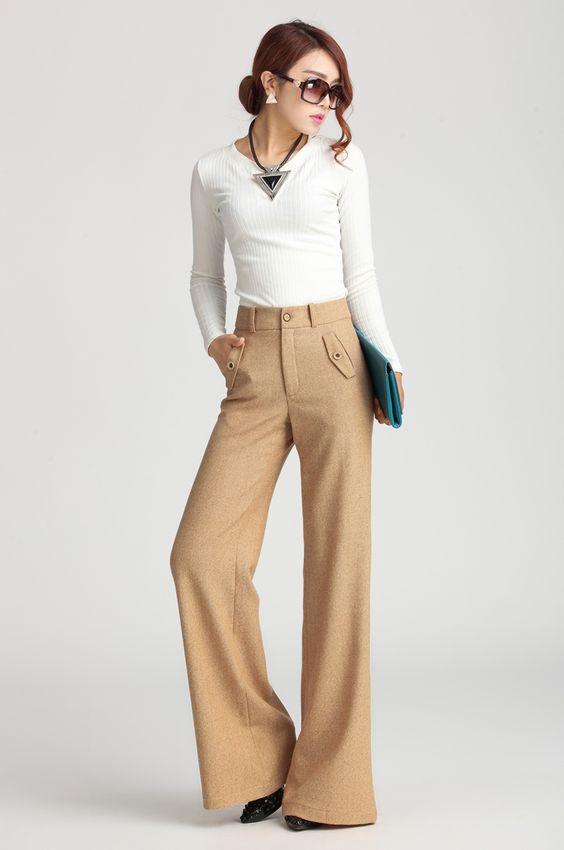 Brand Design Autumn Winter Woolen Fashion Wide leg Pants Women's , Unique Personalized loose Woolen Trousers xxxl K107-inPants & Capris from Women's Clothing & Accessories on Aliexpress.com | Alibaba Group
