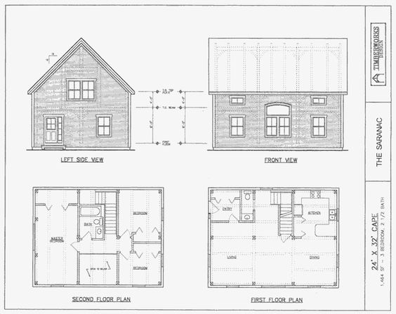 26 x 40 cape house plans previous the saranac 24 x for 2 bedroom timber frame house plans