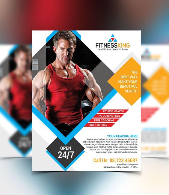 Fitness  Gym Flyer V  Flyers    Design Graphic    Gym