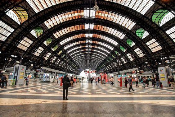 Inside Milan Central Station