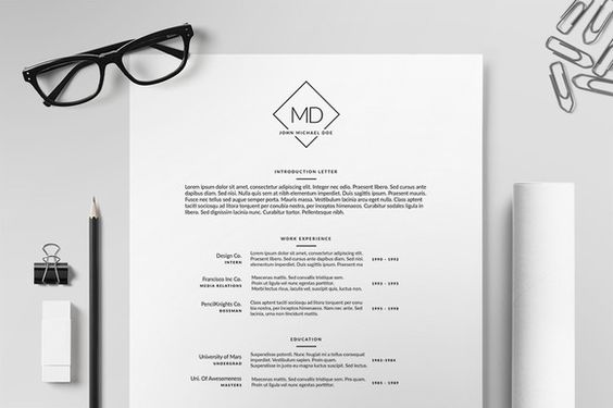 Resume/CV Template II by PrintForge on Creative Market