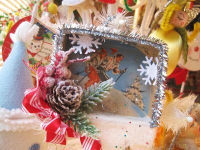 <3: Shadowboxes Garland, Christmas Cards, Shadowbox Ornaments, 68 Christmas Shadowbox, Handmade Christmas, Art Christmas, Handmade Ornaments, Candy Boxes