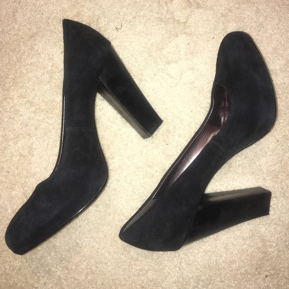 Calvin Klein Black Suede Heels Calvin Klein black suede heels. They have only been worn a few times, still in great condition. Calvin Klein Shoes Heels
