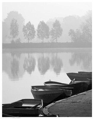 Rowboats on Shore Fine Art Print Poster