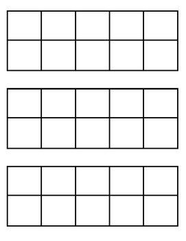 Here are some blank tens frames I created for my students to use. They are big enough to place manipulatives and counters on them. I printed them on cardstock and laminated them for durability. These are great for helping kids make tens partners and adding/subtracting to 10.