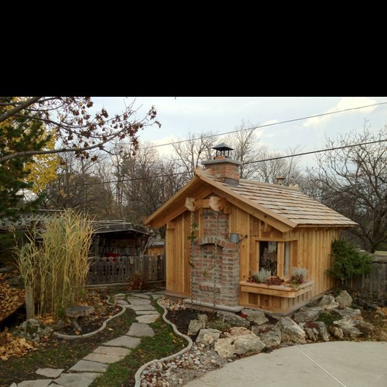 My dad 39 s cottage he built for himself in the back yard for Backyard guest cottage