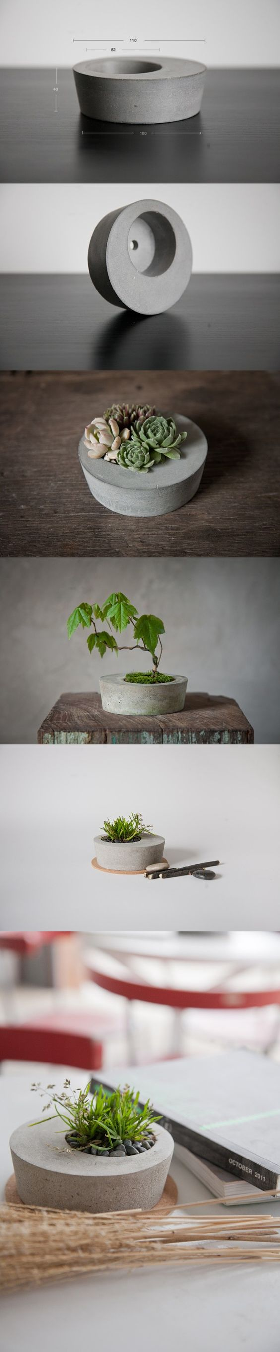 Joli pot plante en b ton diy concrete planter for Plante en pot
