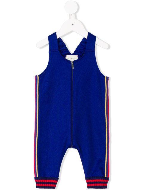Gucci Kids striped zipped jumpsuit