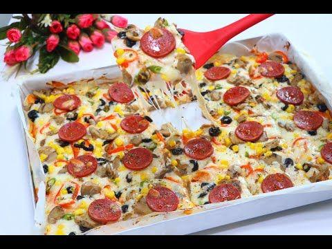 طريقة تحضير البيتزا ب 3 وصفات بجبنة المطاطية سهلة التحضير افضل من الجاهز الطعم شي رهيب Youtube Food Pepperoni Pizza Pizza