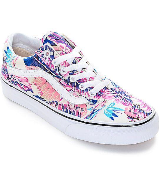 vans tropical print shoes