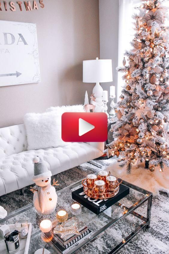 35 Trendy Cozy Holiday Decorating Ideas In 2020 White Christmas Decor Christmas Decorations Living Room Holiday Decor