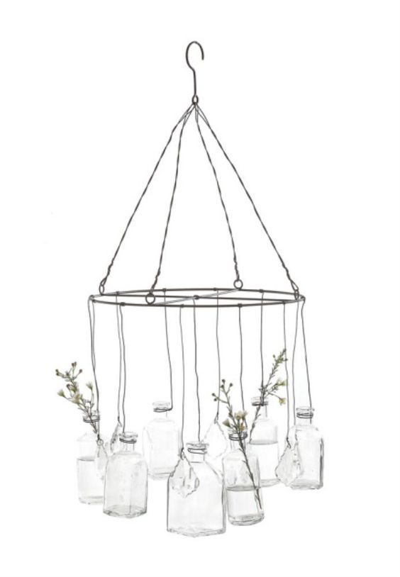 Glass bottles bottle and bottle chandelier on pinterest - Glass bottle chandelier ...