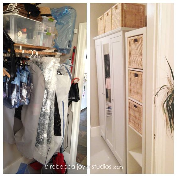 Ikea Schrank Für Staubsauger ~   IKEA ASPELUND wardrobe with 3 doors Plus an Expedit shelf and some