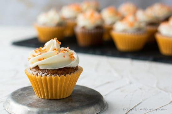 Carrot Cake Cupcakes Mini Size Recipe Carrot Cake Cupcakes