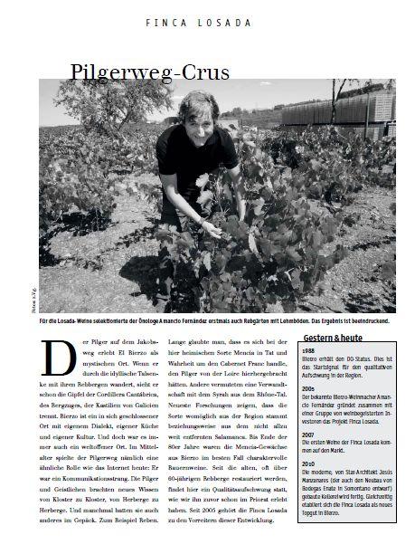 Für die Losada-Weine selektionierte der Önologe Amancio Fernández erstmals auch Rebgärten mit Lehmböden. Das Ergebnis is beenindruckend.#Losada