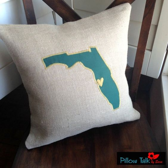 University of South Florida Throw Pillow Cover **this would be cute w/your home town** P'cola BABY!!!