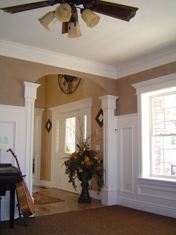 Colonial house remodel google search home pinterest for Colonial foyer ideas
