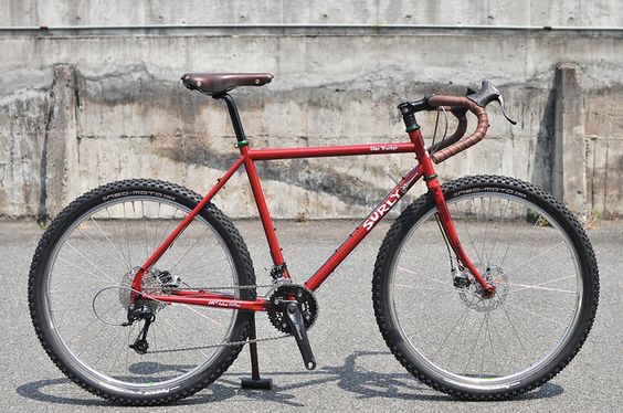 """Surly """"Disc Trucker"""" with 650B Tire. by Circles Japan, via Flickr"""