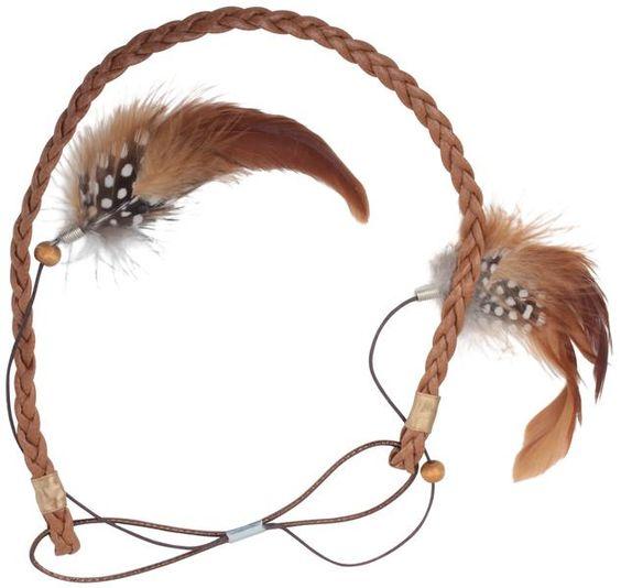 bijou brigitte haarband leder feder kapsels pinterest shops federn und schmuck. Black Bedroom Furniture Sets. Home Design Ideas