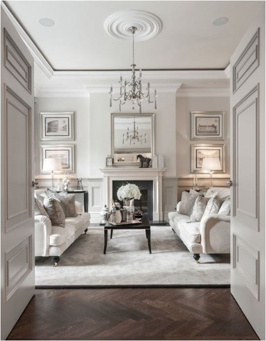 Classic Living Room Design Creative Ways To Decorate With White  Living Rooms Traditional