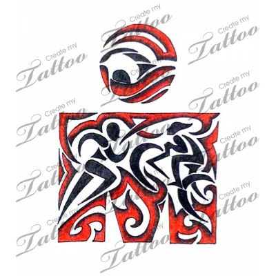Marketplace Tattoo Ironman Triathalon #1176   CreateMyTattoo.com
