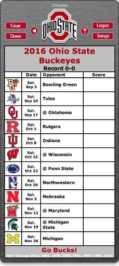 Ohio State Buckeyes Football Schedule App                                                                                                                                                     More