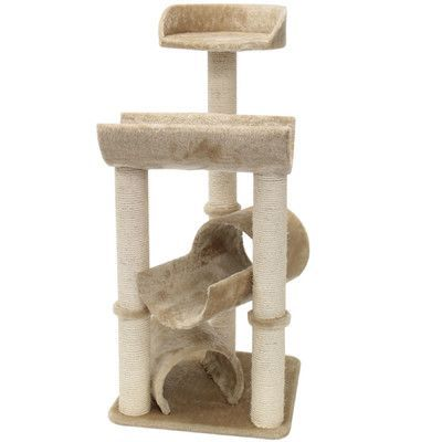 "Majestic Pet 44"" Casita Fur Cat Perch"