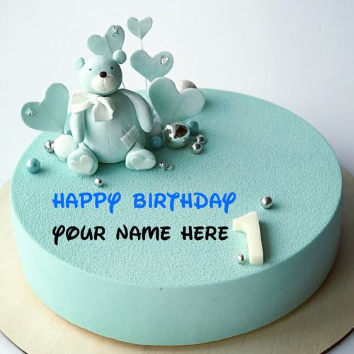 Write Name On 1st Birthday Wishes Cake Kid Special Birthday Cake