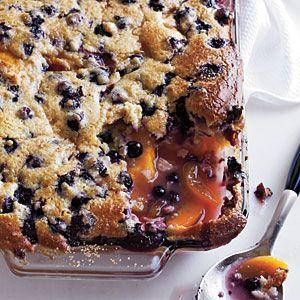 Blueberry-Peach Cobbler   CookingLight.com