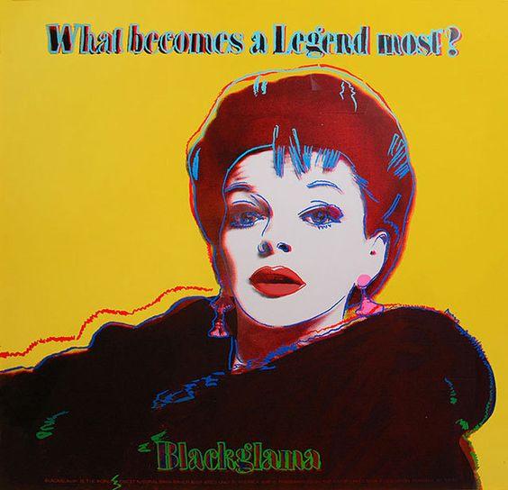Andy Warhol - Blackglama Yellow Judy Garland