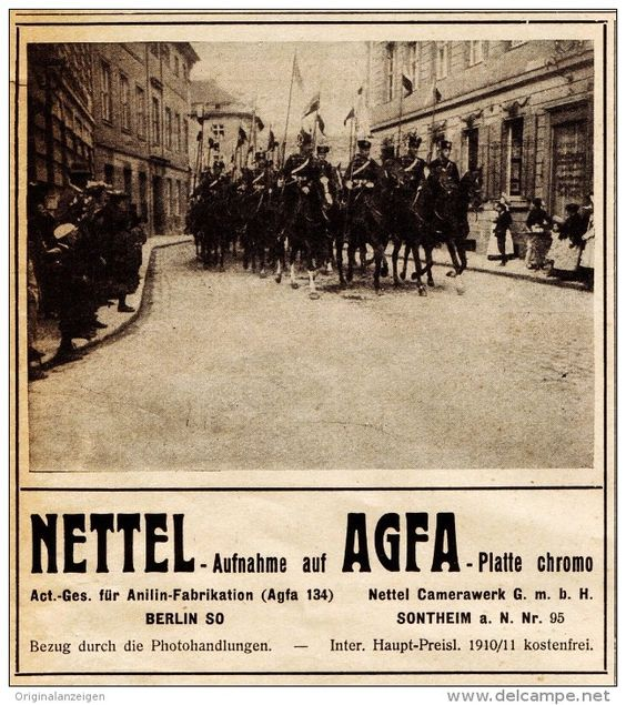 Original-Werbung/ Anzeige 1910 - NETTEL - CAMERA - SONTHEIM / AGFA FILM - ca. 90…