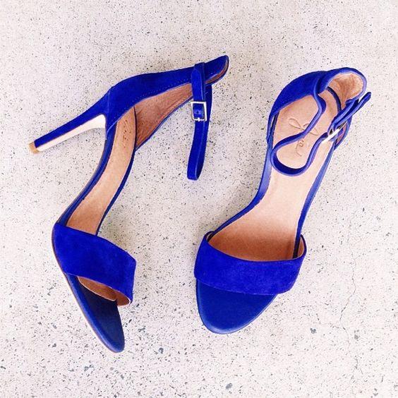 Cobalt Blue Ladies Shoes