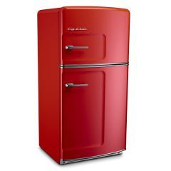 retro fridge, perhaps in red as a pop of color in my butter yellow fifties kitchen?