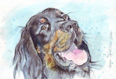 http://aprilturner.jimdo.com/ 2014 Open Portrait V.  / 2014 Watercolour  Kazzies & Doggies