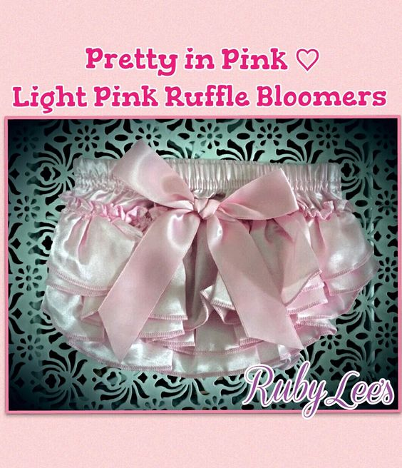 Pretty In Pink Satin Ruffled Bloomers