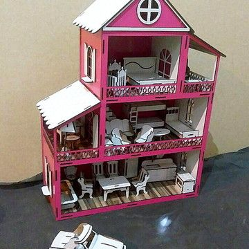 Casa De Boneca Madeira Dispensador De Papel Toalha De Parede Com Flor Rolo E Pintado Em Miniatura