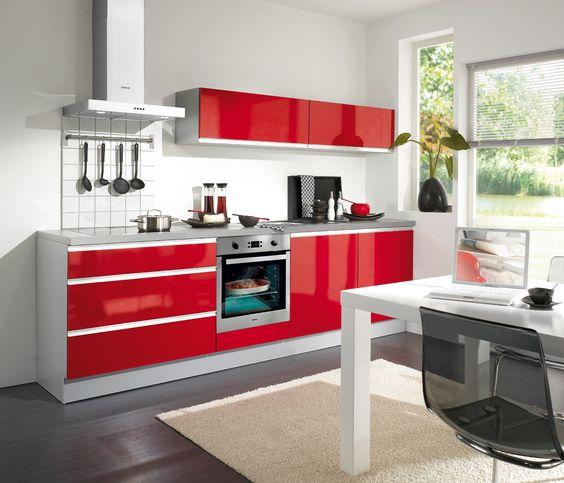 Cuisine jena rouge brillant kitchens pinterest jena - Cuisine rouge brillant ...